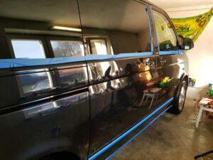 VW multivan widok boczny czyszczenieaut