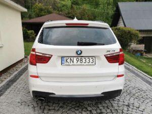 BMW X3 front tył czyszczenieaut