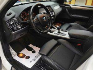 BMW X3 front wnętrze czyszczenieaut